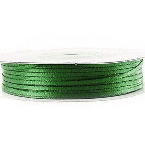 1/16in. Double Faced Satin Ribbon - 100 Yards (Emerald Green)