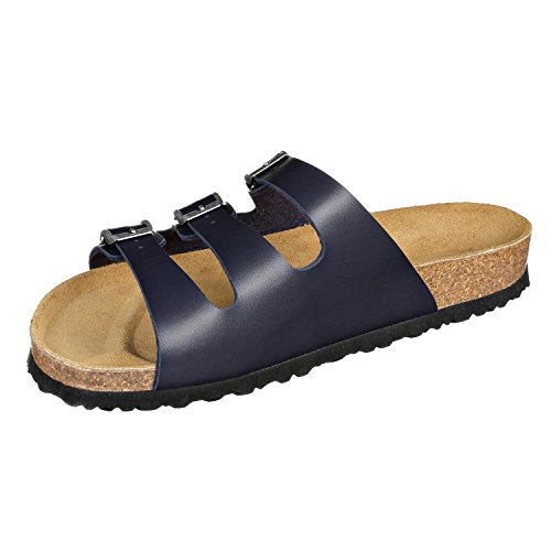 JOE Synsoft Paris Sandals n Dark belts Mules Blue Narrow JOYCE with Unisex 3 rqxrpUn