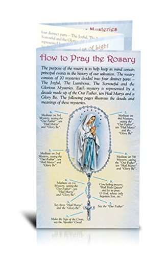 Beautifully Illustrated How to Pray the Rosary Pamphlet. 8 Page Pamphlet - 20 Per Pack