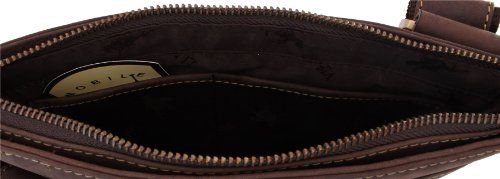 Oil Leather Messenger TAYLOR Oil Oiled Bag Cross Brown 16111 Body Brown Visconti XEwvpqn