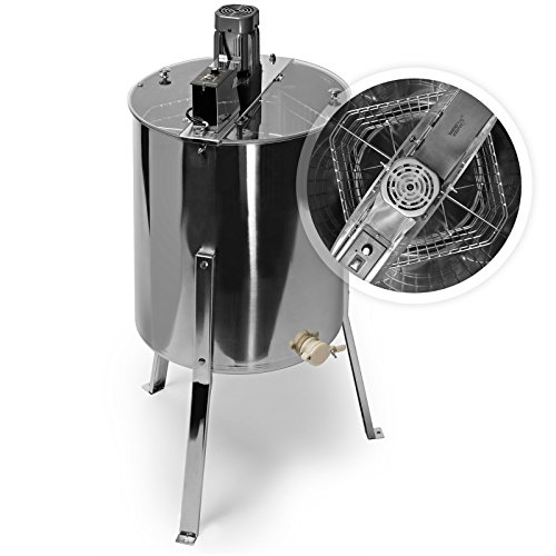 Electric 4 Four Frame Stainless Steel Honey Extractor