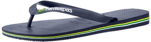 Havaianas Men's Brazil Logo Flip Flop Sandal,Navy Blue, 43/44 BR(10-11 M US Men's) from Havaianas