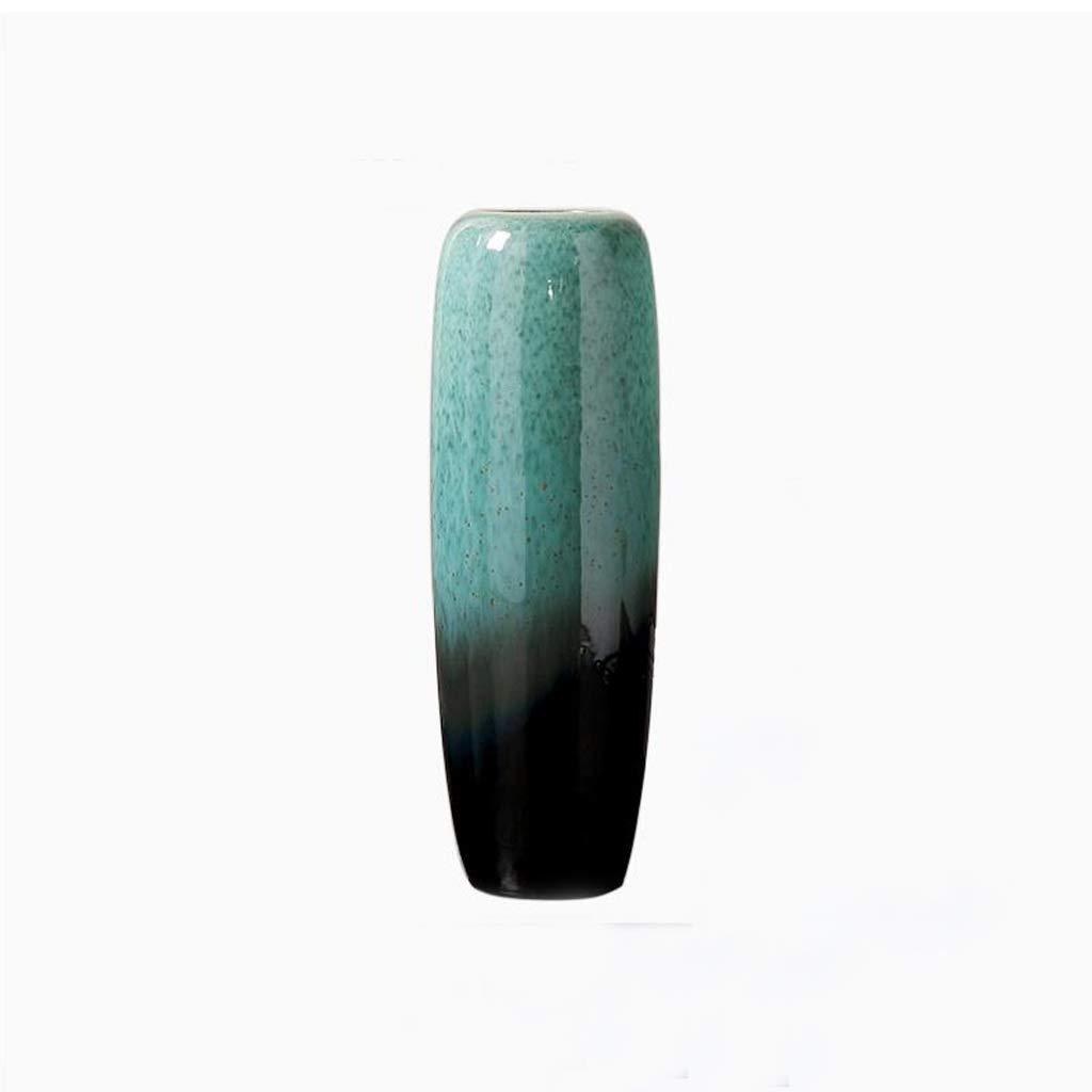花瓶 フロアスタンドセラミック花瓶リビングルームフラワーアレンジメント装飾手作り大花瓶 SHWSM (サイズ さいず : 17cm×50cm) B07RSVMBQ3  17cm×50cm