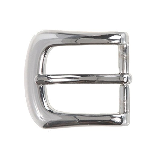 """1"""" (25 mm) Nickel Free Single Prong Horseshoe Belt Buckle Color: Silver from beltiscool"""