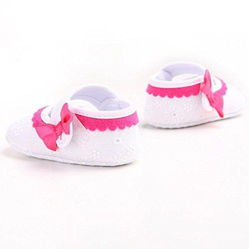 Hunpta Babyschuhe Mädchen Jungen Lauflernschuhe Baby Kleinkind Kinder Mädchen weichen Sohle Krippe Kleinkind Neugeborenes Schuhe (11, Weiß) Weiß