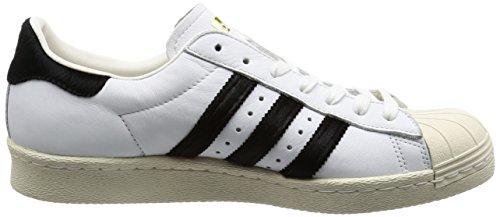 Adidas Superstar 80s (BB2231), Weiß, 45 1/3 EU