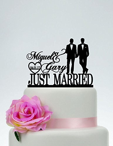 Personalized Mr. & Mr. Cake Topper