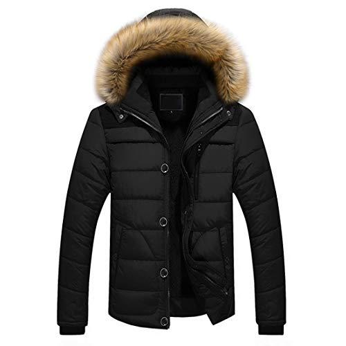 Giù Degli Del Ispessimento Di Nero Antivento Inverno Uomini Cappotto Outwear Huicai Parka Caldo Modo zqStnnWZp