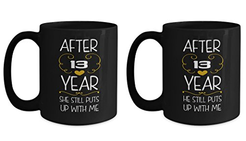 13rd Wedding Anniversary Gifts Set After 13 years funny marriage mug Best Engagement Valentine's Day Gifts for couples women wife husband her him