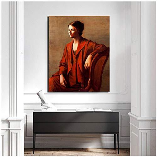 yhyxll Pablo Picasso Pinturas realistas Lienzos Carteles Impresiones Arte Abstracto de la Pared Pintura Imagenes Decorativas Decoracion Moderna para el hogar-40X60Cm Sin Marco