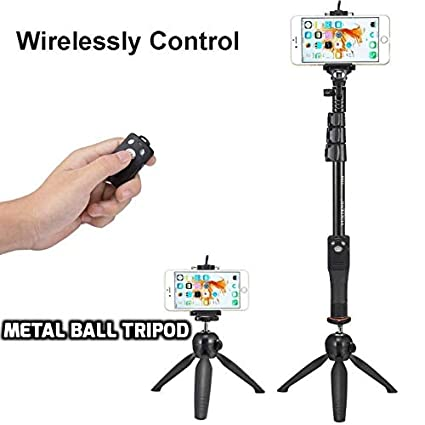 2e076a33cf9b40 DEALPICK Selfie Stick and Mini Combo Tripod/Monopod for All Smartphones,  Gopro Action and