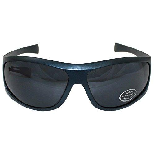 Cadre Noir protection finition de en soleil rétro forme lunettes métallique à bleu UV400 Design de unisexe rRawrx