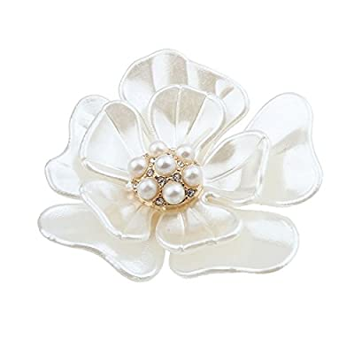 Botrong New Flash Diamond Pearl Corsage Camellia Brooch Scarf Buckle Brooch