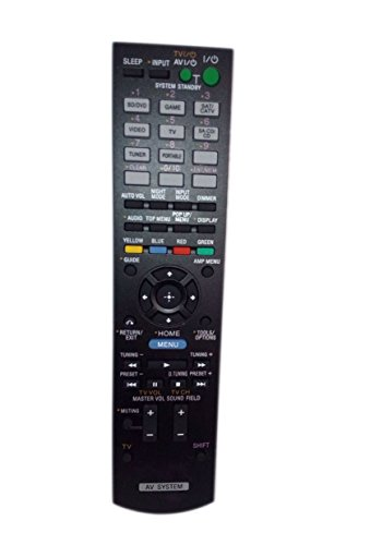 Replaced Remote Control Compatible for Sony STRDH520 RM-AAU104 1-489-343-11 RMAAU105 Audio / Video AV Receiver Home Theater System by JustFine