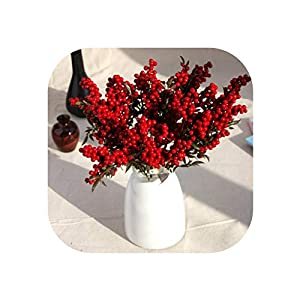 UNstars Artificial Flowers Red Berries Flower'S Decor Tree Artificial Berry Decoration for Home 118