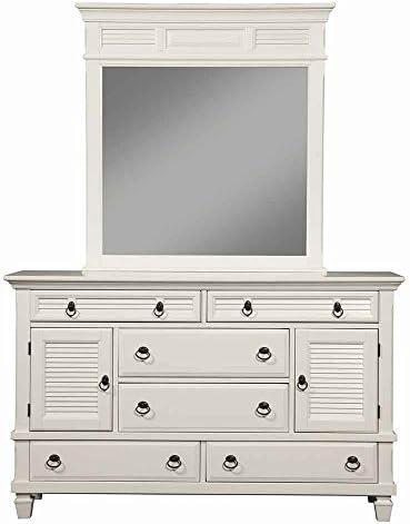 Alpine Furniture Winchester 6 Drawer Dresser Mirror Set