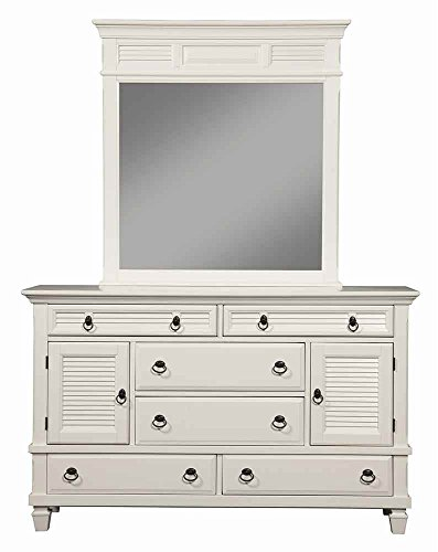 Bedroom Alpine Furniture Winchester 6 Drawer Dresser & Mirror Set dresser