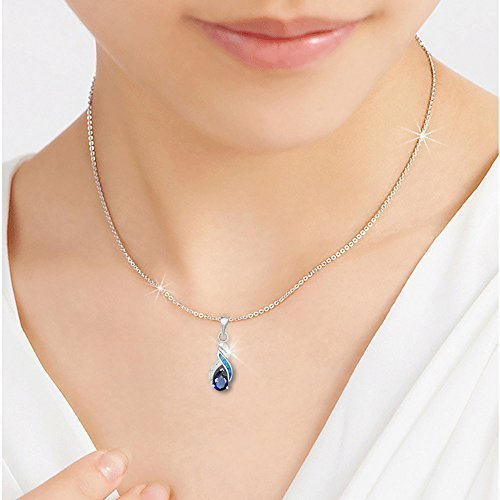 Sinlifu Silver Plated Earrings Fire Blue White Opal With Sapphire Tanzanite Topaz Design (Silver sets: Blue opal & Sapphire) by Sinlifu (Image #3)