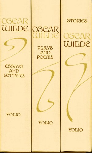 Oscar Wilde in 3-Vol Box Set (Stories, Plays, Poems, Essays, Letters) [Folio Society 1993]
