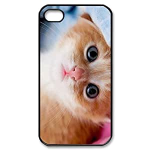 DIY Cover Case with Hard Shell Protection for Iphone 4,4S case with Stay Meng cat lxa#468272