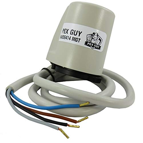 4-wire (10) 24V Thermostatic Actuator w/Auxiliary Microswitch (Italy), Compatible with PEX GUY