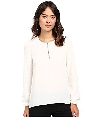 Ellen Tracy Women's Bishop Sleeve Blouse Cream Blouse