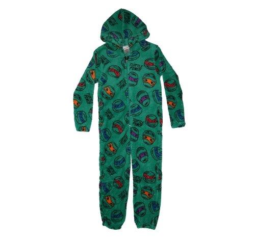 Character Teenage Mutant Ninja Turtles Hooded Suit Fleece 100% Polyester 7 to 8 Years Onesie
