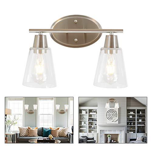 BONLICHT 2 Light Mid Century Modern Bathroom Vanity Light Brushed Nickel Interior -