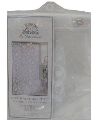 Ex-Cell Modern Leaf Shower Curtain, White