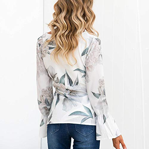 Femme Femmes ALIKEEY Femme Sweat pour Longues Manches blanc Champion dcontract Blanche Shirt Chemisier Chemise Chic afwEwqO