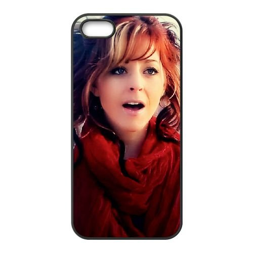 Lindsey Stirling 003 coque iPhone 5 5S cellulaire cas coque de téléphone cas téléphone cellulaire noir couvercle EOKXLLNCD25555