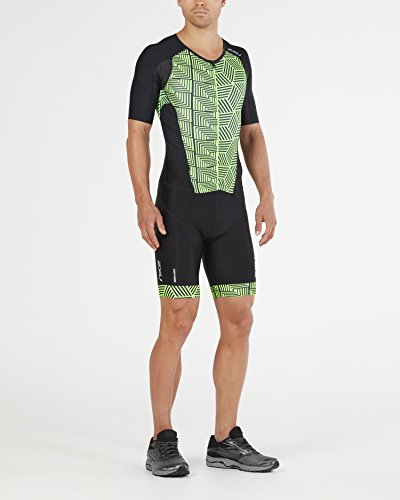 Triathlon Black geo Perform Uomo Sleeved Full Body Zip 2xu Green Neon qax81X00