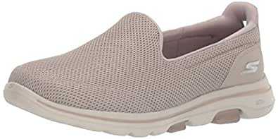 Skechers Go Walk 5 Women's Casual Shoes, Taupe, 5 US