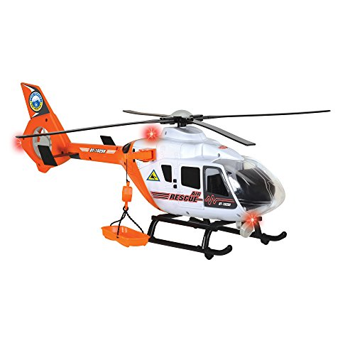Dickie Toys Light and Sound SOS Rescue Helicopter with Moving Rotor Blades, (Light Helicopter)
