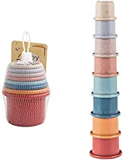 Stapelbare bekers Vroeg educatief speelgoed voor peuters, stapelbekers Baby-bouwset, kleurrijke stapels bekers Fun voor kinderen Stapels bekers voor binnen, buiten, badkuip en strandplezier