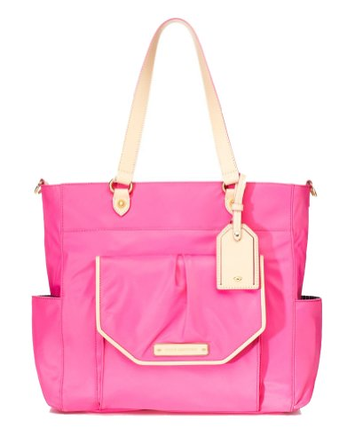 Juicy Couture Grove Hill Nylon Baby Shoulder Bag, Highlighter Pink (Pink Juicy Couture Purse)