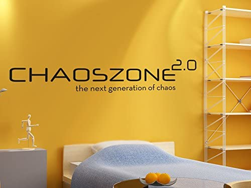 Pared Adhesivo Chaos Zona 2.0 The Next Generation of Chaos., morado lavanda, 150x30cm: Amazon.es: Hogar