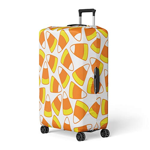 Pinbeam Luggage Cover Colorful Halloween Party Candy Corn Ornamental Pattern Travel Suitcase Cover Protector Baggage Case Fits 26-28 inches ()