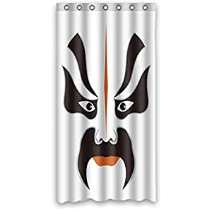 Custom design Dries Quickly Anne Anime Facial Makeup in Beijing Opera Shower curtain, Width * Height / 36 * 72 inch / 91 * 183cm, Polyester, best for relatives