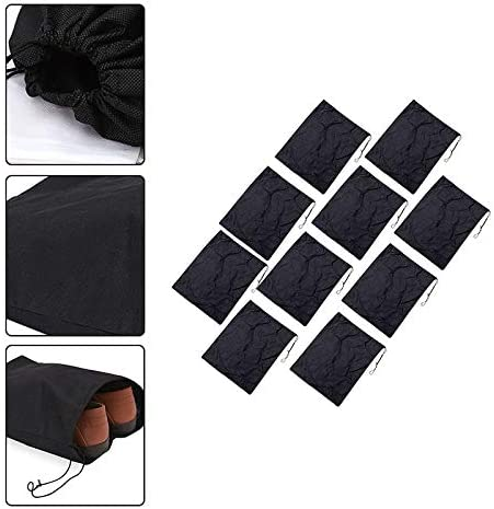 Cratone 10PCS Travel Shoes Bags Waterproof Non-Woven Drawstring Storage Bag Large Shoes Pouch Organizer