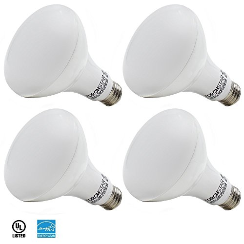 4 PACK 11W (65W Equiv.) Dimmable BR30 LED Light Bulb, ENERGY STAR & UL-Listed Flood Light, 800Lm,5000K Daylight, General Residential & Retail Lighting/Recessed Can/Track Lighting