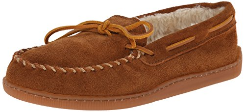 Sheepskin Wool Hat - Minnetonka Men's 3902, Brown Suede, 11 D-Medium