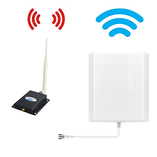 Cell Phone Signal Booster 4G Lte Verizon HJCINTL Band 13 700Mhz FDD Cell Signal Booster Home Mobile Phone Signal Repeater Amplifier Kit with Panel/Whip (black) by HJCINTL