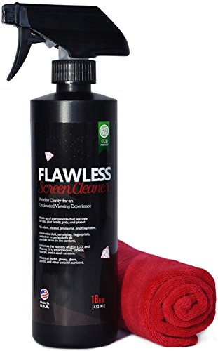 Flawless Screen Cleaner Spray with Microfiber C...