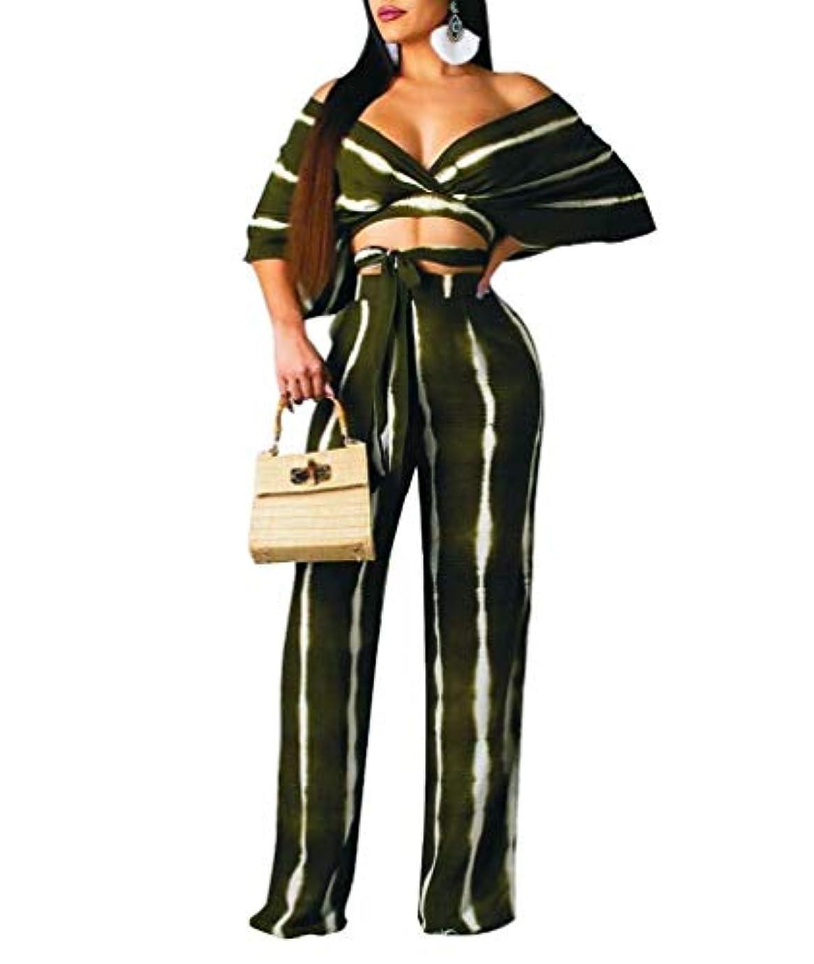 はぁ後退する変わるWE&energy 女性のジャンプスーツはクロップトップとワイドレッグロングパンツ