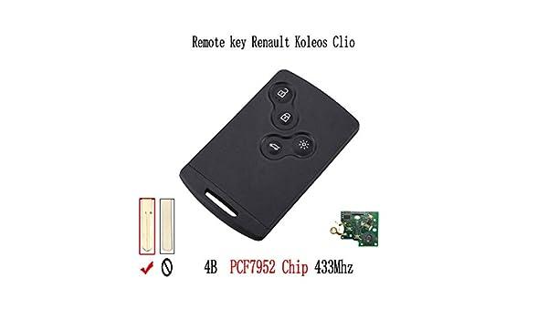 433 Mhz PCF7952 Chip de 4 botones Llave remota Tarjeta inteligente ...