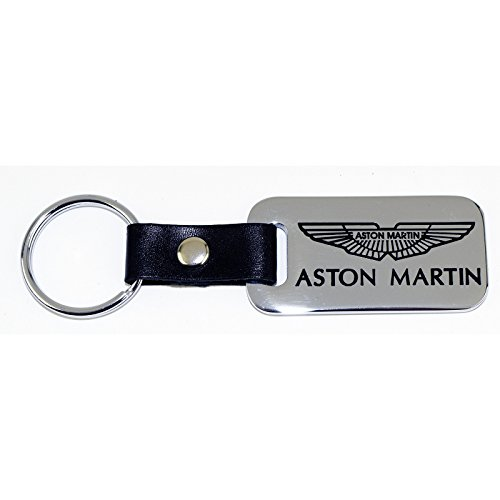 High-End Motorsports Aston Martin Key Chain Fob - Chrome - Engraved - Made in USA