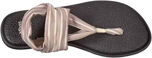 Tan Natural Damen Prints Zehentrenner Yoga Stripes Sling Sanuk 2 4Ywd0xYS