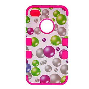 3-in-1 Design Colorful Bubbles Pattern Protective Case for iPhone 4/4S (Assorted Colors)