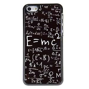 JOE Mass-energy Equation Pattern Aluminous Hard Case for iPhone 5C